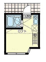 ユナイト町屋マリーナコンティ[2階]の間取り