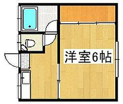 広瀬ハイツ[203号室]の間取り