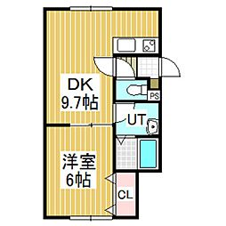 PORTE-BONHEUR[2階]の間取り