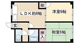 愛知県名古屋市南区元塩町1丁目の賃貸マンションの間取り