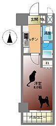 Groove Nipponbashi[2階]の間取り