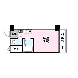 ハイツ玉川Ⅴ[8階]の間取り