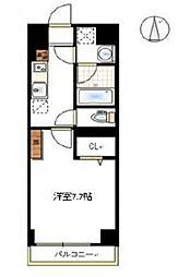 JR宇野線 大元駅 徒歩6分の賃貸マンション 4階1Kの間取り
