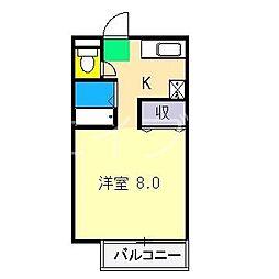 ハイツフジII[1階]の間取り
