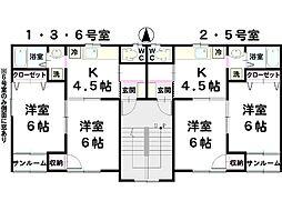 プランタンクレール[203号室]の間取り