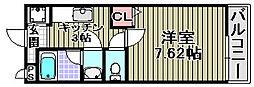 クローリスメゾン1番館[207号室]の間取り