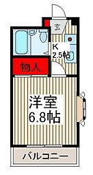 メゾンド西青木[2階]の間取り