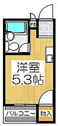 大西マンション[3階]の間取り