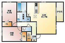 アビタシオンA棟[1階]の間取り
