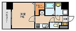 福岡県福岡市博多区美野島1の賃貸マンションの間取り