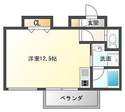 AXIS平尾2番館[8階]の間取り