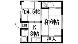 住吉澤田文化[1階]の間取り