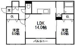 仮)北野7−3マンション[1階]の間取り