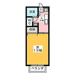 サンガーデン萩野町B棟[2階]の間取り