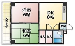 ルーチェ長田[3階]の間取り