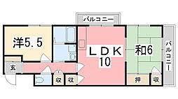Leeハイツ[203号室]の間取り