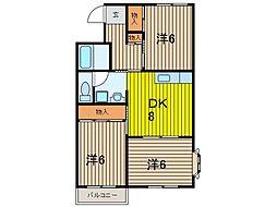 小川マンション[1階]の間取り
