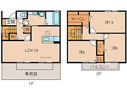 ブリオーソ東高松[1階]の間取り