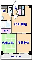 ローズマンションA-51[403号室]の間取り