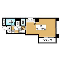 サングリエ京都[3階]の間取り