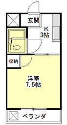 志登茂独身マンション[2階]の間取り