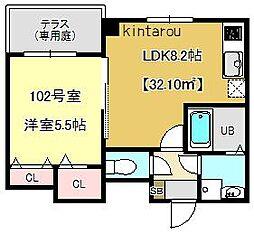 プラチナレジデンス[1階]の間取り