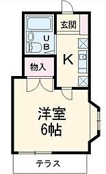 ヒルズ伊勢宿[1階]の間取り