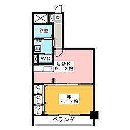アルファレガロ西古松[5階]の間取り