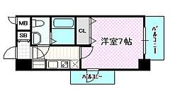 レジュールアッシュ大阪城NORD[4階]の間取り