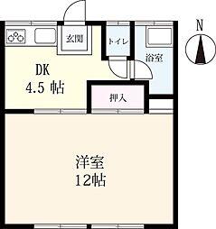 鶴アパート[3号室]の間取り