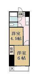 越谷第一マンション[207号室]の間取り