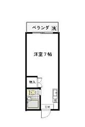 神奈川県川崎市宮前区土橋3丁目の賃貸アパートの間取り
