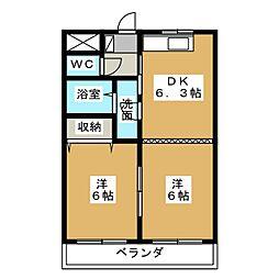 コンフォール・21[2階]の間取り