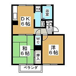 ログパルクC[1階]の間取り
