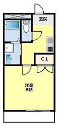 愛知県豊田市新生町1丁目の賃貸アパートの間取り