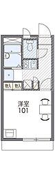 阪急千里線 千里山駅 徒歩7分の賃貸アパート 1階1Kの間取り