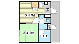 リーダーマンション[402号室]の間取り