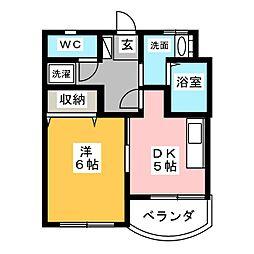 ユタカマンション[4階]の間取り