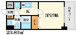T's square江坂[4階]の間取り