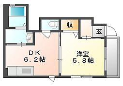 RAINBOW C棟[1階]の間取り