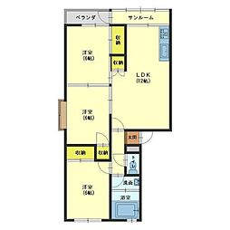 新庄マンション[401号室]の間取り
