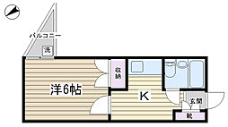 メゾンド童橋[202号室]の間取り