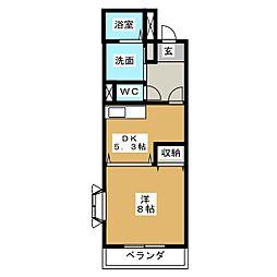 さくら荘[1階]の間取り