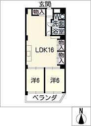 トミタビル四軒家[6階]の間取り