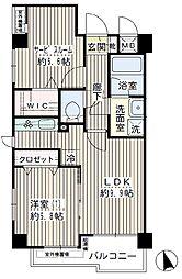 グランシャリオ(日当たり良好、角部屋、2面採光)[402(キャンセル住戸)号室]の間取り