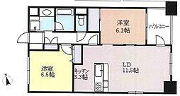 レクセルマンション上野松が谷[9階]の間取り