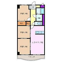三重県四日市市伊倉1丁目の賃貸マンションの間取り