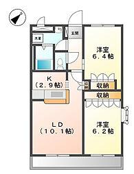 セントラルコートII[1階]の間取り