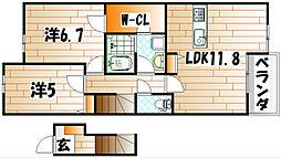リアルエステートXII[2階]の間取り