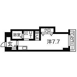 ベテル鳴子[3階]の間取り